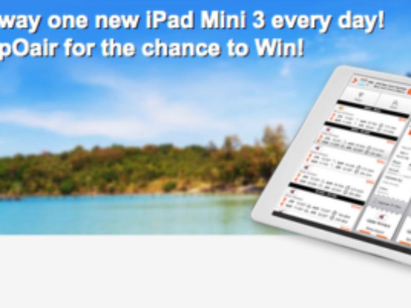 Win an iPad Mini 3 from CheapoAir!
