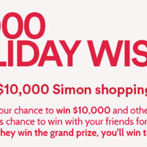 Win A $10,000 Simon's Shopping Spree
