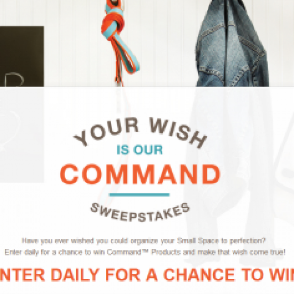 Win a $250 Visa gift card & more from 3M Your Wish is Our Command Sweeps
