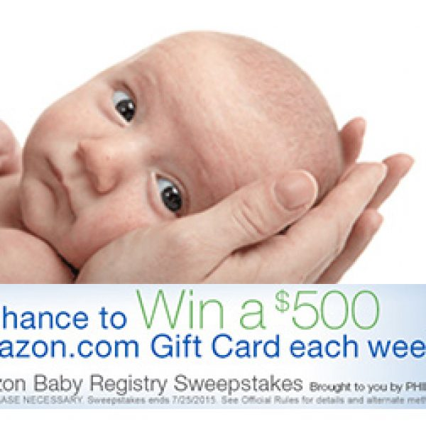 Amazon Baby Registry Sweepstakes: Win A $500 Gift Card Each Week