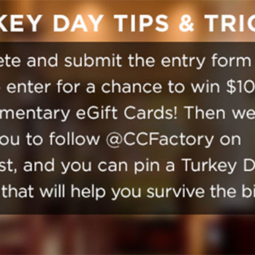 Win $100 in eGift Cards From The Cheesecake Factory
