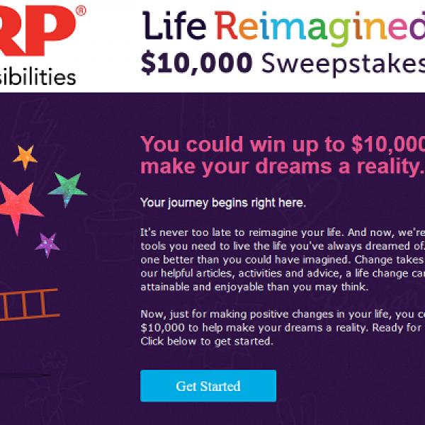 Win $10,000 in AARP's Life Reimagined Sweepstakes
