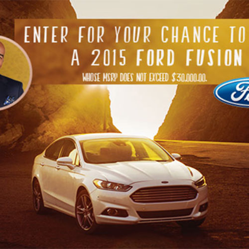 Win A 2015 Ford Fusion From Steve Harvey