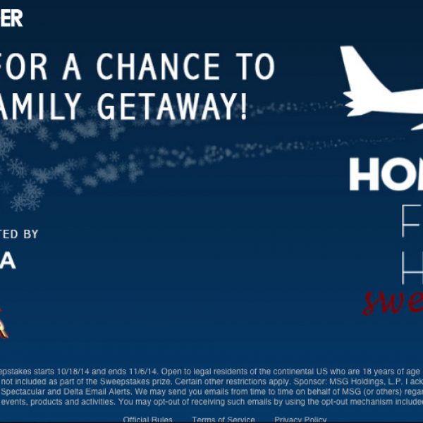 Win Holiday Vacation from Delta!