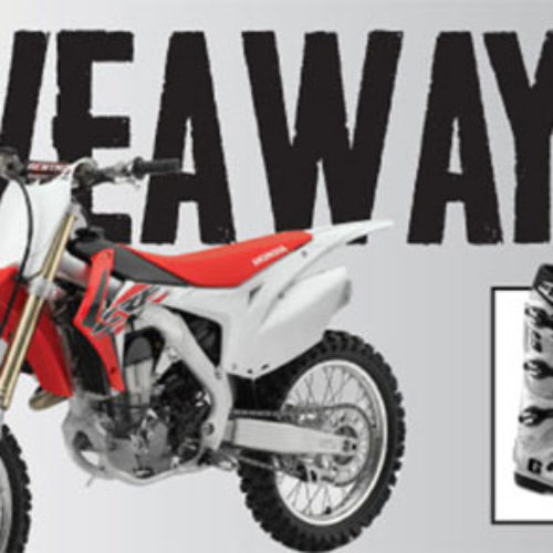 Win A 2015 Honda CRF450R Bike