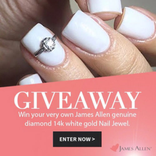 Win 1 of 10 Diamond and 14k White Gold Nail Accessory