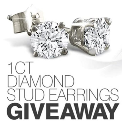 Win 1Ct Diamond Stud Earrings
