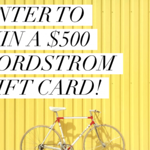 Win a $500 Nordstrom gift card or $500 Cash