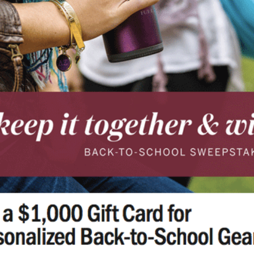 Win $1,000 Gift Card for Back to School Essentials