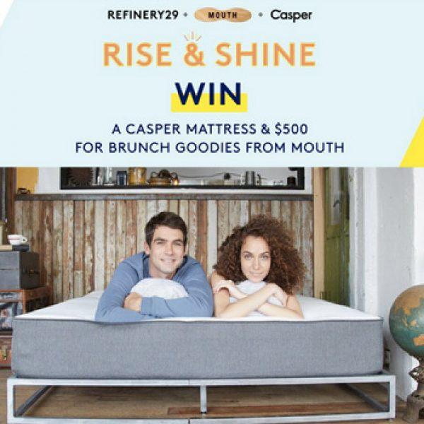 Win a Casper Mattress & $500 Mouth Gift Card