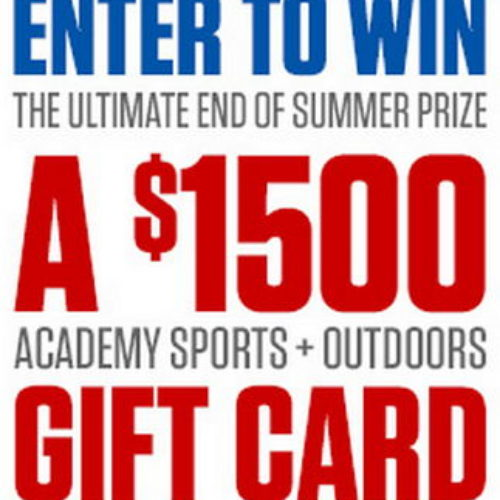 Win $1,500 Academy Sports and Outdoors Gift Card