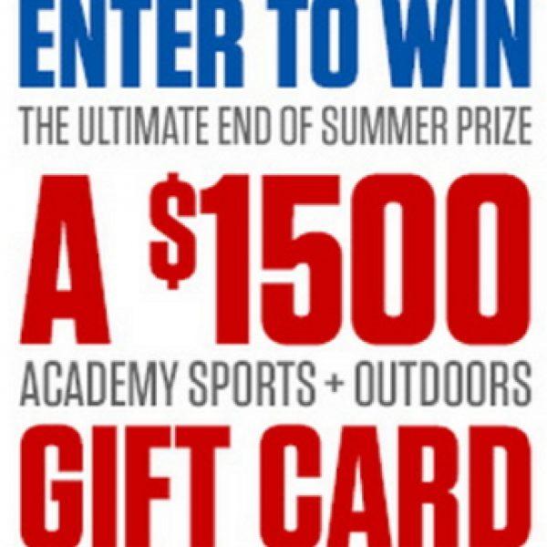 Win a $1,500 Academy Gift Card