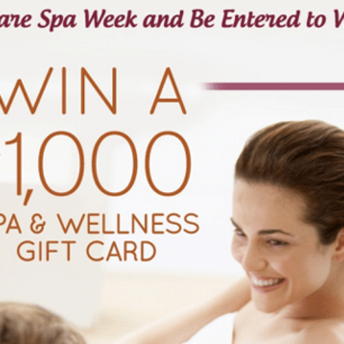 Win a $1,000 Spa and Wellness Gift Card from Spa Week