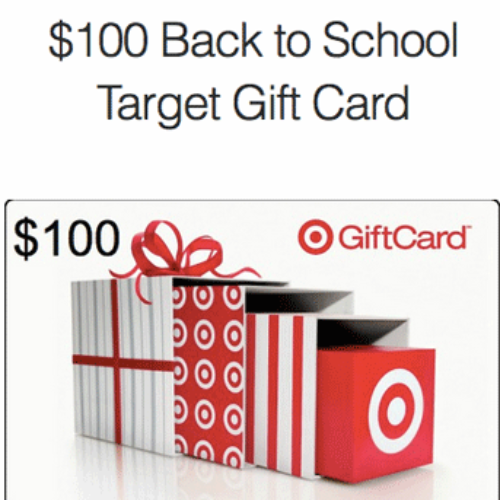 Win $100 Target Back to School Gift Card
