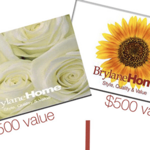 Win 1 of 2 $500 BrylaneHome Gift Cards