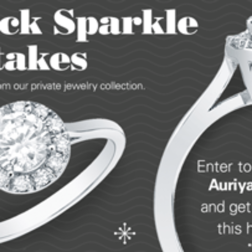 Win a 14k Gold 1/2ct TDW Round Diamond Halo Engagement Ring
