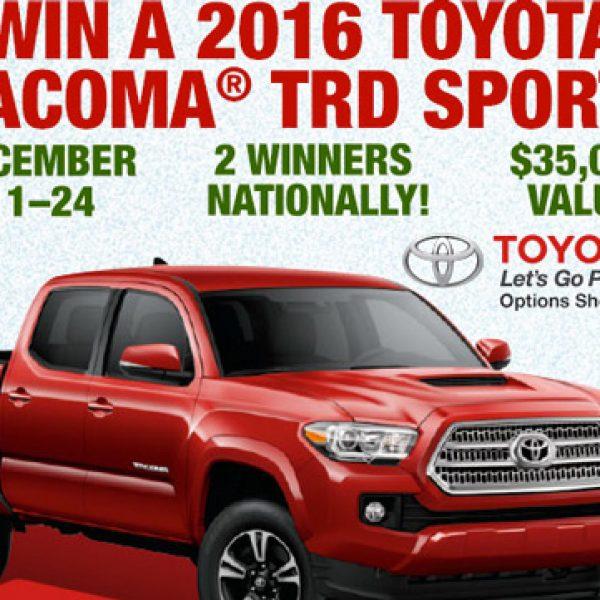 Win a 2016 Toyota Tacoma TRD Sport