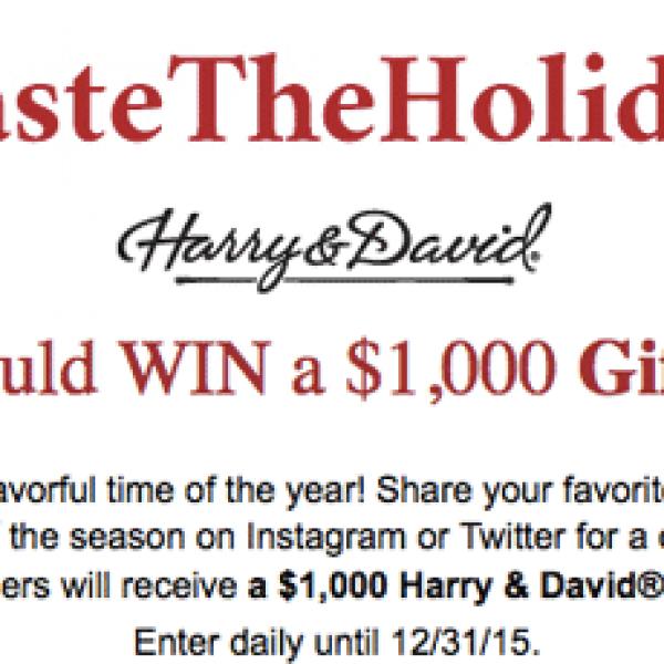 Win a $1,000 Harry & David Gift Card