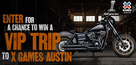 Motorcycle sweepstakes and contests