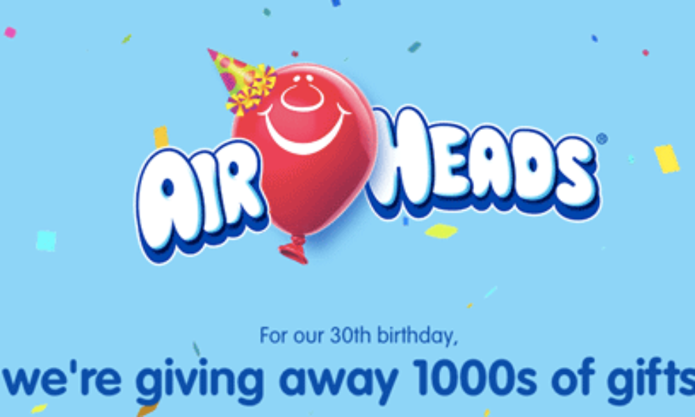 Airheads Epic Birthday Instant Win Game