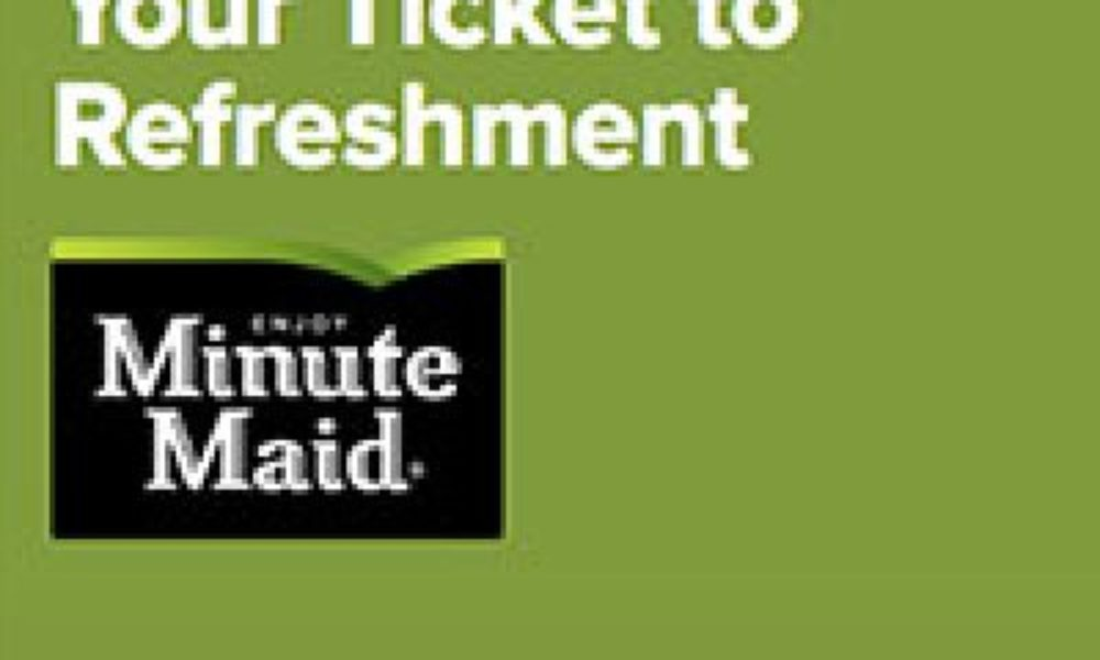 Minute Maid Ticket To Refreshment Sweepstakes