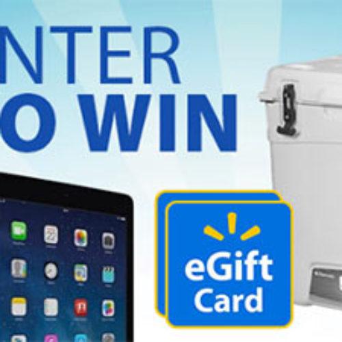 Win Walmart eGift Cards + Avalanche Cooler + Tablet