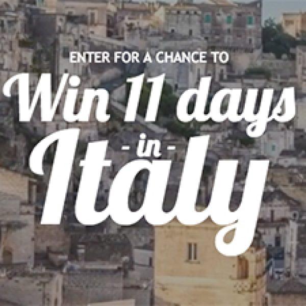 Win 11 Days In Italy