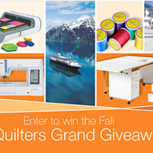 Win A Quilting Cruise & Studio