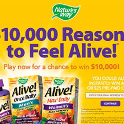 Nature's Way: Win $10,000