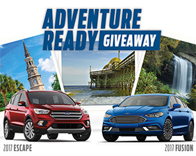 Win a Ford Fusion or Escape + $10K Vacation