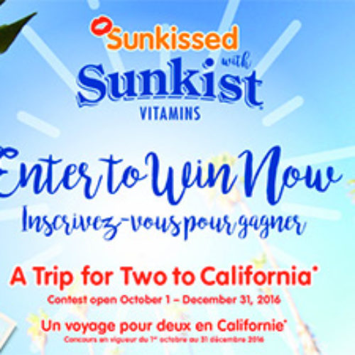 Sunkist: Win a Trip to California