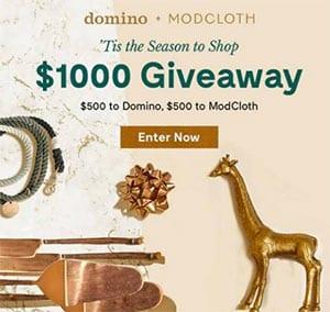 Win a $500 Domino & $500 ModCloth Gift Card