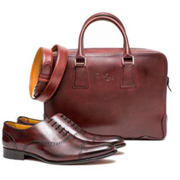 Win Oxblood Leather Goods