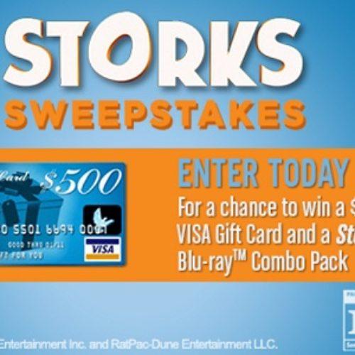 Storks: Win a $500 Visa Gift Card