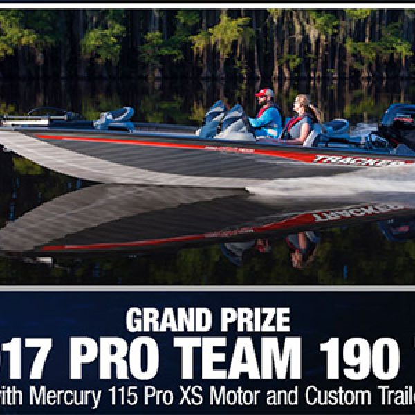 Bass pro win a tracker pro team boat trailer granny 39 s for Bass pro monster fish