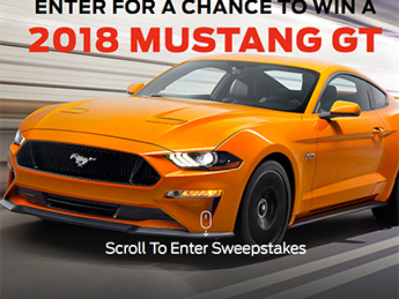 Win a Custom 2018 Mustang GT