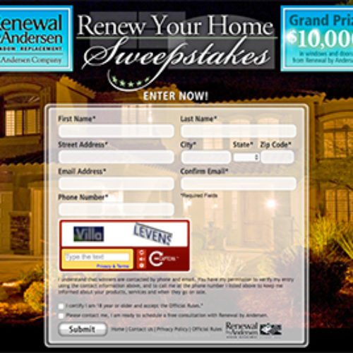 Win $10,000 in Windows & Doors from Anderson