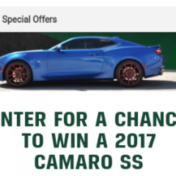 Win a 2017 Camaro SS