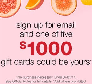 Win 1 of 5 $1,000 T.J.Maxx Gift Card
