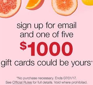 Win 1 of 5 $1,000 T.J.Maxx Gift Card