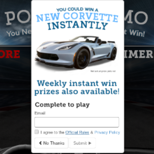Win a 2018 Chevrolet Corvette