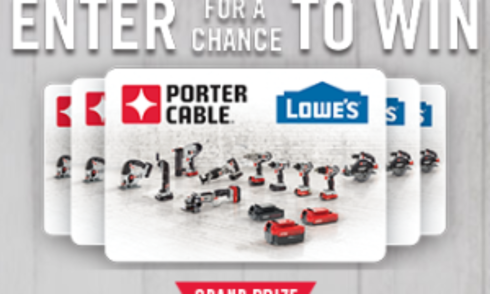 Win a $1,000 Lowe's Gift Card