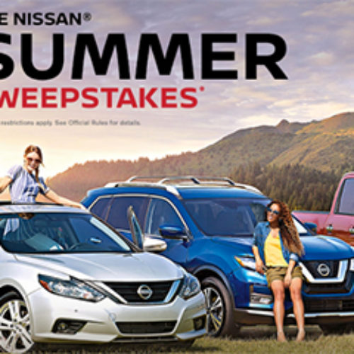 Win 1 of 3 New Nissan Vehicles