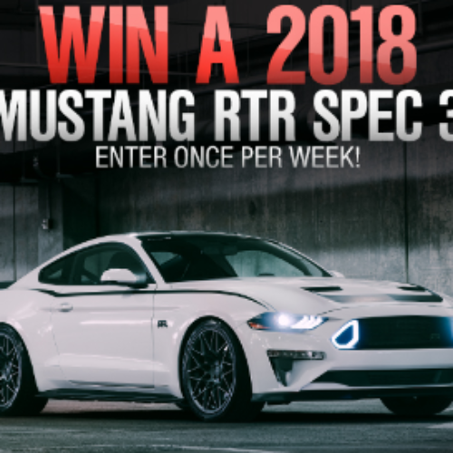 Win a 2018 Mustang RTR