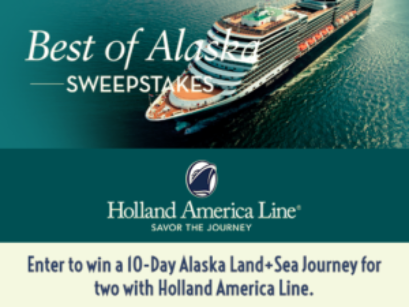 Holland: Win a 10-day Alaskan Cruise