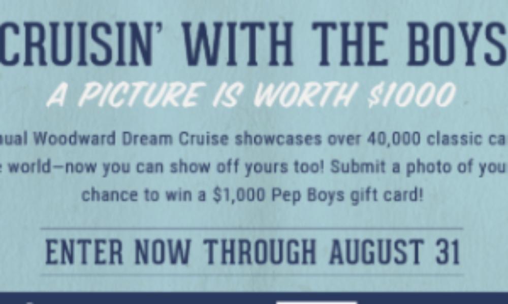 Win a $1,000 Pep Boys Gift Card