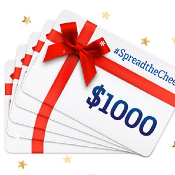 Win 1 of 5 $1K Visa Gift Cards