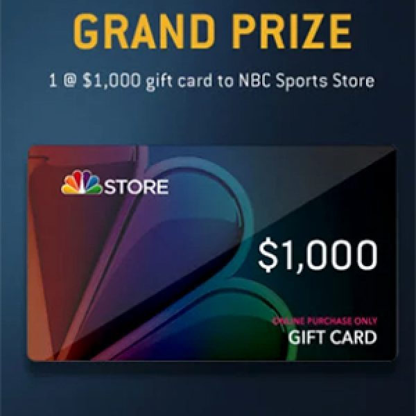 Win a $1K NBC Sports Store Gift Card