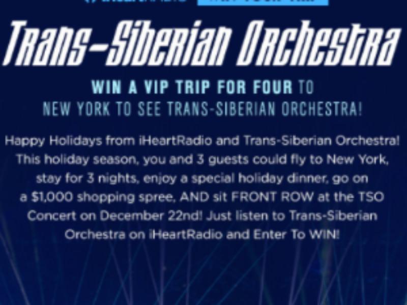 Win a VIP Trip to see Trans-Siberian Ochestra