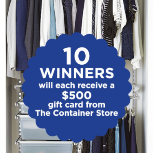 Win a $500 Container Store Gift Card